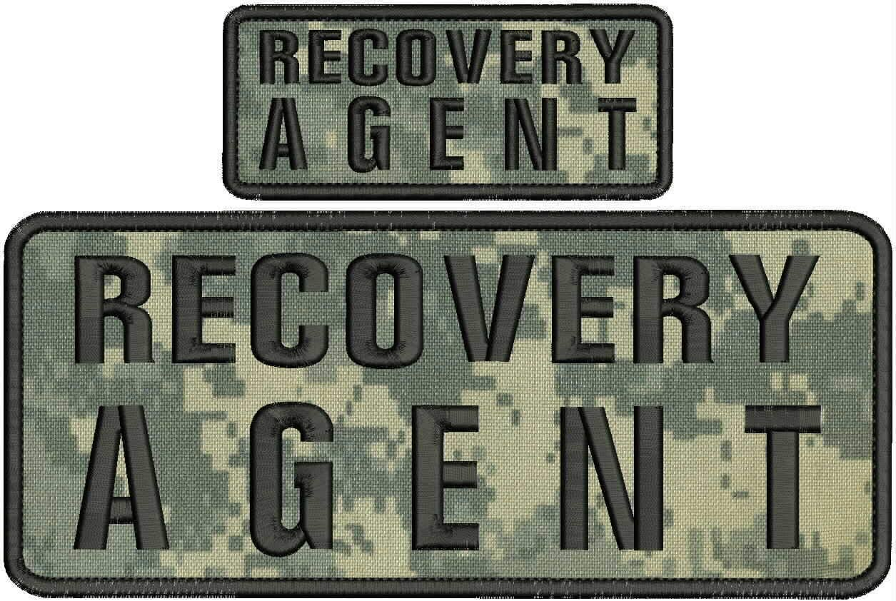 Recovery Selling Inexpensive and selling Agent Embroidery Patches 4x10 on CAMO Hook 2x5 Back