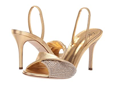Giuseppe Zanotti Rosaline Crystal Strap Slingback Sandal (Camoscio/Per Ricamo Kimi) Women