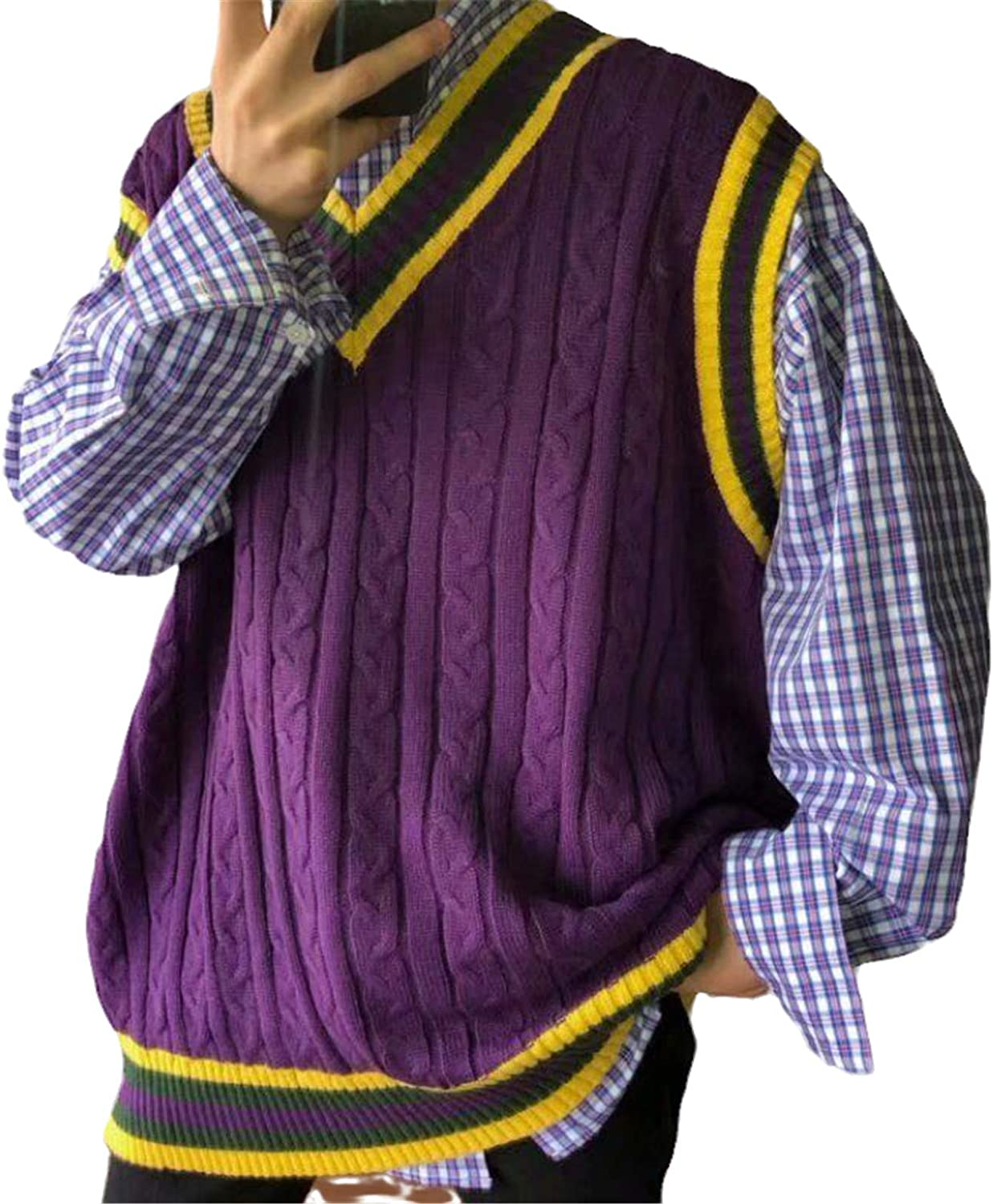 Sweater Vest Men Sale Super beauty product restock quality top! price Loose V-Neck Autumn Sleevel Spring Leisure Chic