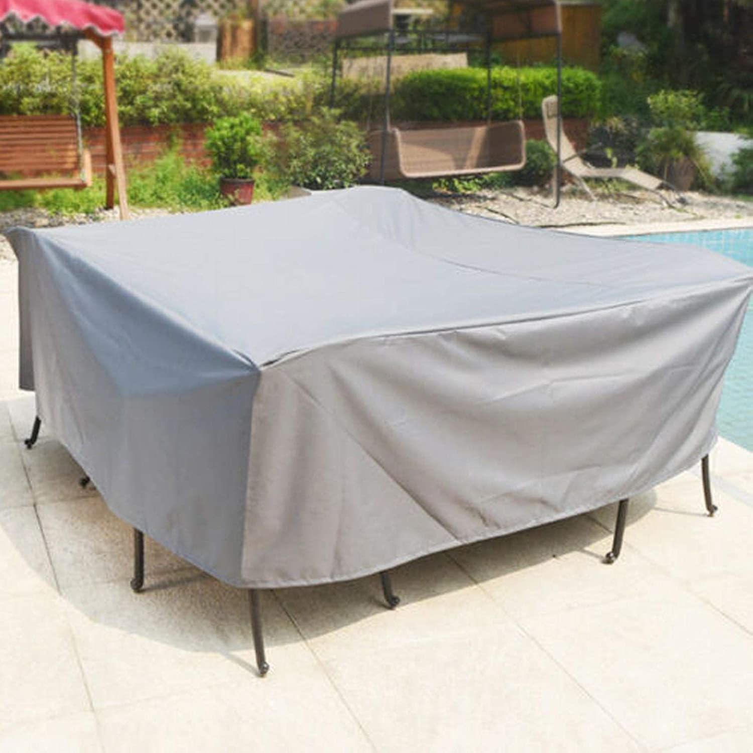 Outdoor Don't miss the campaign Patio Table Chair Cover Durable Rectangle Black Max 82% OFF W Square