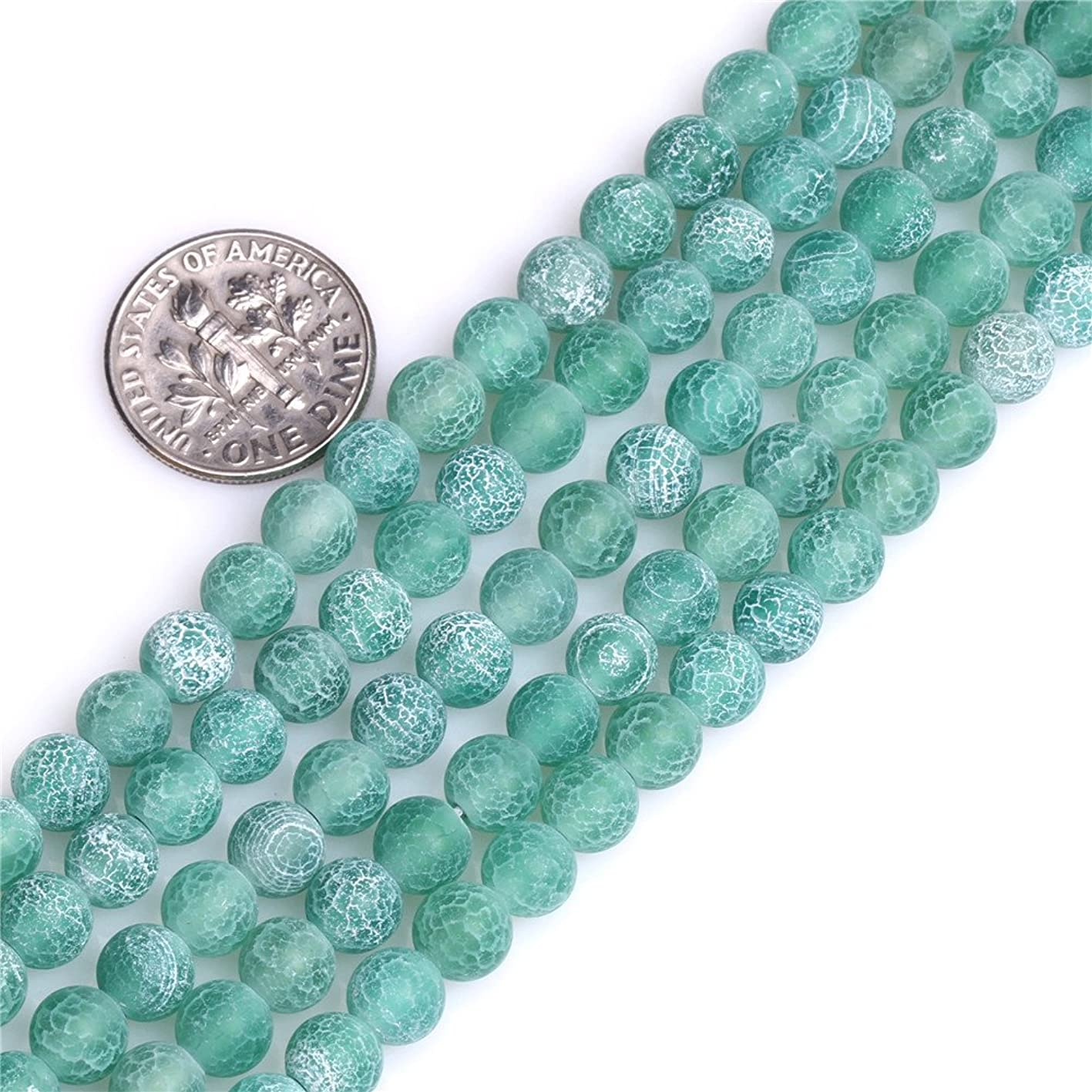 Green Agate Beads for Jewelry Making Natural Gemstone Semi Precious 6mm Round Frosted Matte 15