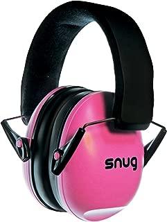 Snug Kids Earmuffs/Best Hearing Protectors - Adjustable Headband Ear Defenders For Children and Adults (Pink)