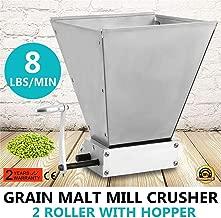 S SMAUTOP Molino manual de malta Molinillo de grano inoxidable Con 2 rodillos ajustables Trituradora de molino de cebada, fabricante de harina para elaboración casera(manual)