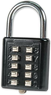 FJM Security SX-579 Push Button Combination Padlock