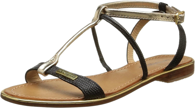 LES TROPEZIENNES par M BELARBI Womens Haquina Leather Sandals with Ankle Strap