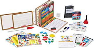 Melissa & Doug School Time! Classroom Play Set (Role-Play Center, Reusable Double-Sided Boards, Easy Storage Box, 150+ Pieces, Great Gift for Girls and Boys – Best for 4, 5, 6, 7 and 8 Year Olds)