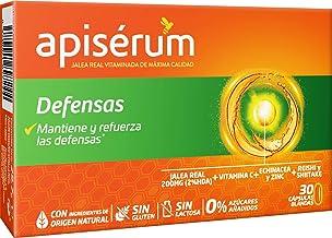 Apisérum Defensas Cápsulas - Jalea Real con Vitamina C, Reishi y Shitake – Mantiene y refuerza las defensas- Tratamiento para 30 días