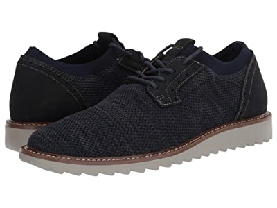 Dockers Einstein Knit/Leather Smart Series Dress Casual Oxford with NeverWet (Navy/Grey) Men