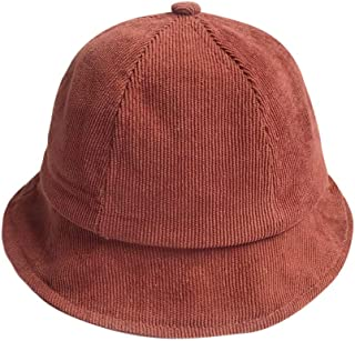Toddler Kids Baby Boys Girls Cute Cotton Fisherman Hat Spring Fall Winter Solid Color Fashion Acrylic Detective Cap,Starwak Casual Head Warmer Corduroy Velvet Caps for Unisex Child Photo Props(Brown)