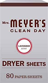 Mrs. Meyer's Clean Day Dryer Sheets, Lavender Scent (Pack of 80)