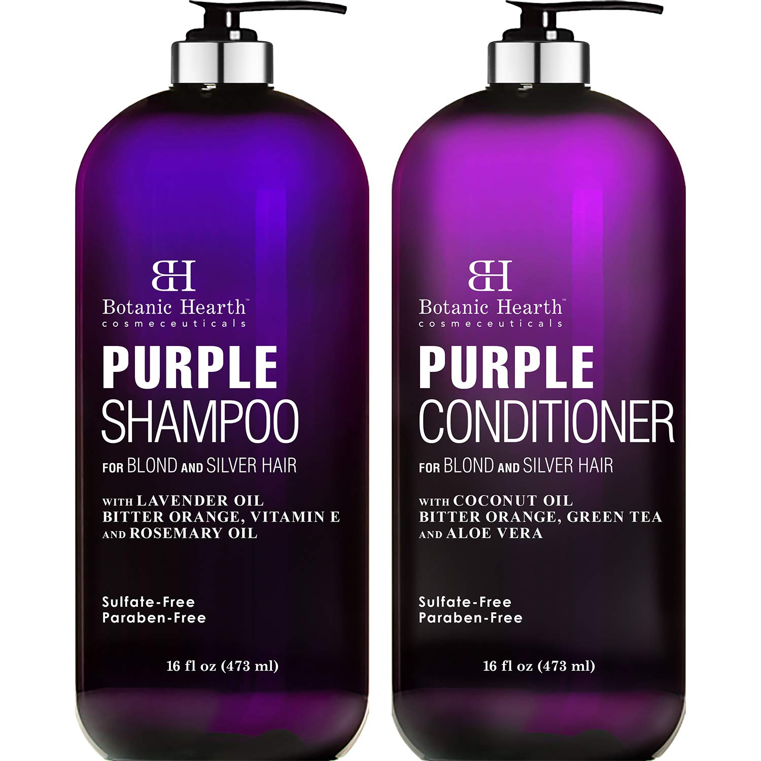 BOTANIC HEARTH Purple Daily bargain sale Max 45% OFF Shampoo and Conditioner Set for Shad All -