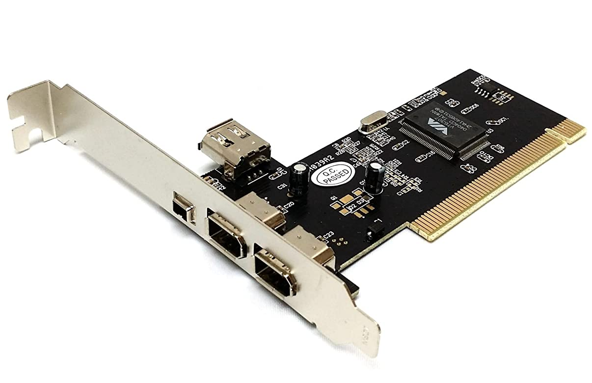 Via Chip 3 + 1 Ports Firewire IEEE1394 iLink PCI Controller Card W/Free 6 to 4pin firewire cable