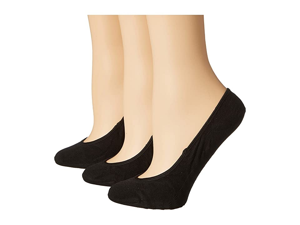 Sperry Solid Micro Liner 3 Pair (Black) Women's No Show Socks Shoes