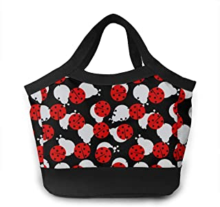 Almuerzo Bolso Lunch Bags for Women&Men Insulated Lunch Box for Lunch Cooler Tote (Ladybugs Cartoon Cute)