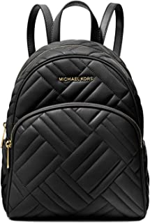 Michael Kors Abbey Medium Quilted Leather Backpack Black