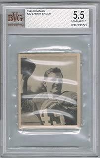 1948 Bowman SAMMY BAUGH # 22 (BVG 5.5 EXCELLENT+) RC Rookie NFL Hall of Fame (293