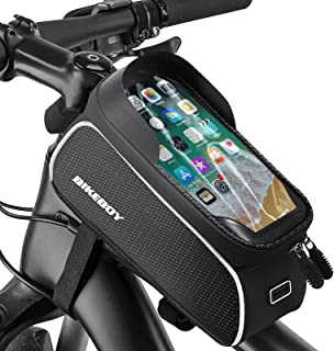 BIKEBOY Bike Phone Front Frame Bag Bicycle Bag Waterproof Bike Handlebar Bag Bike Phone Bag Touch...