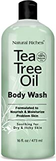 Sponsored Ad - Natural Riches Extra Strength Tea Tree Oil Skin Clearing Body Wash Hand Wash Peppermint Eucalyptus Oil Soap...