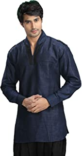 Indian Clothing Fashion Shirt Mens Short Kurta Linen Cotton India Dresses