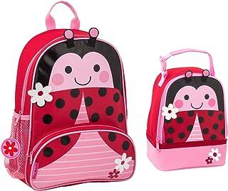 Stephen Joseph Girls Sidekick Ladybug Backpack and Lunch Pal for Kids