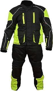 Traje de alta visibilidad para motocicleta, 100% resistente al viento y el agua, color negro