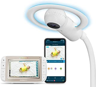 Motorola Halo+ Video Baby Monitor - Infant Wi-Fi Camera with Overhead Crib Mount - 4.3-Inch Color Screen with Infrared Nig...