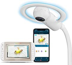 Sponsored Ad - Motorola Halo+ Video Baby Monitor - Infant Wi-Fi Camera with Overhead Crib Mount - 4.3-Inch Color Screen with Infrared Night Vision and Intercom - Compatible with Remote Viewing App and Sleep Tracker