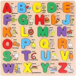 Mumoo Bear English ABC Alphabet Board Jigsaw Puzzle Game Educational Toy, Multicolour, B07MGC14PQ