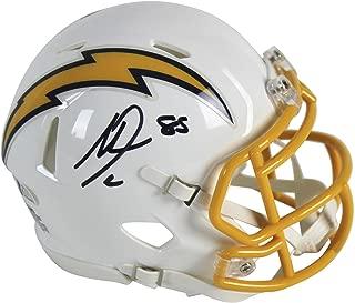 Antonio Gates Signed Mini Helmet - 2017 Color Rush Speed BAS Witnessed - Beckett Authentication - Autographed NFL Mini Helmets