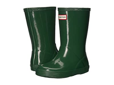 Hunter Kids First Original Gloss Rain Boots (Toddler) (Hunter Green) Kids Shoes