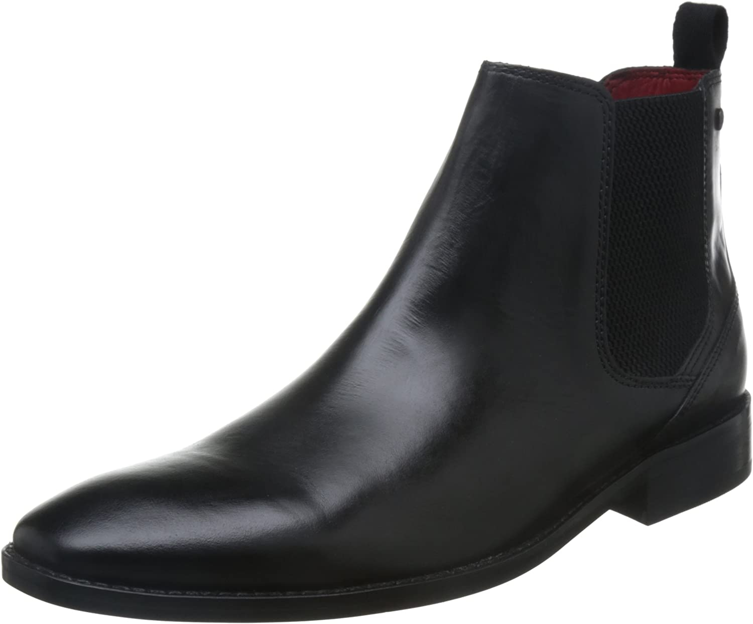 Base London Mens Black Leather 'Cheshire' Chelsea Boots