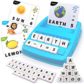 Flash Cards Matching Game, Sight Words Alphabet & Math Board Games Toys for Toddlers & Kids – Preschool Language Learning ...