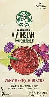 Starbucks VIA Instant Refreshers Very Berry Hibiscus (Very Berry Hibiscus, 30 Count)