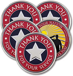 Thank You for Your Service – Military Coins – AttaCoin Veteran Gift Series (5 Pack)