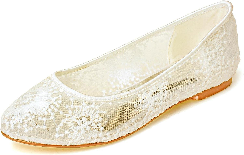L@YC Damen-Hochzeitsschuhe   9872-20 Comfort & Night Flat Flat Flat Lace Gold Silber in 1   57812b