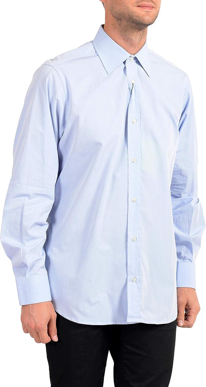 Dolce&Gabbana Men's Blue Long Sleeve Dress Shirt Sz US 16 IT 41