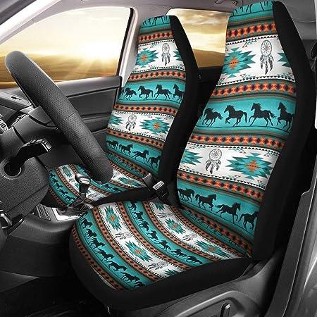 UNICEU Trendy Aztec Tribal Ethnic Turtle Print Soft Comfort Car Seat Belt Pads Cover,Universal Car Seat Belt Shoulder Pads Strap Covers for Women Girl Ladies