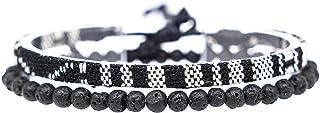 Made by Nami Boho Surfer-Armband 2er Set Herren & Damen - Handmade Strand Festival Accessoires - Azteken-Band Ethno Style...