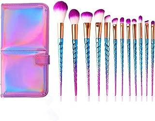 Xixiw Unicorn Makeup Brushes Set Make up Brush Foundation Blending Blush Concealer Eye Face Liquid Powder Cream Cosmetics Lip Brush Tool Brushes Kit 12Pcs, Blue