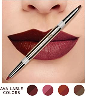 Eve by Eve's Korean Natural Coconut Oil Conditioning Lip Liner Definer with Dual-ended two colors - Plum & Blossom Pink