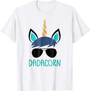 Mens Dadacorn Unicorn Dad T-Shirt Father's Day Gift