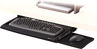 Fellowes 8031201 Suites Deluxe Height Adjustable Under Desk Keyboard Manager/Keyboard Tray/Shelf with Wrist Supports, Blac...