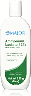 [2 PACK] AMMONIUM LACTATE 12% MOISTURIZING LOTION 226GM (8 OZ) EACH (PACK OF 2)COMPARE TO THE SAME ACTIVE INGREDIENTS FOUND IN AMLACTIN & SAVE!