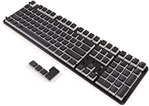 PBT Backlit Keycaps Pudding Keyset Double Shot Cherry MX Key Caps Top Print OEM Profile for 60%/87/104/108 MX Switches Mechanical Gaming Keyboard (Black Pudding)