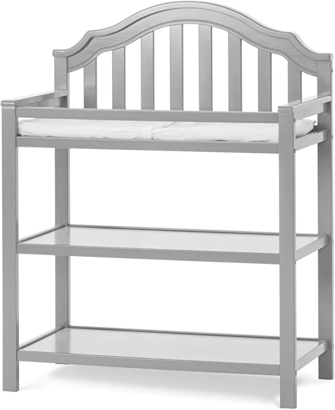 Child Craft Penelope Changing Table With Pad Cool Gray