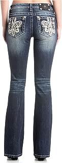 Women's Fleur-de-lis Embellished Straight-Leg Jeans