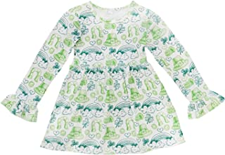 So Sydney Little Girls Long Sleeve Fall Winter Flare Stretch Cotton Holiday Princess Dress