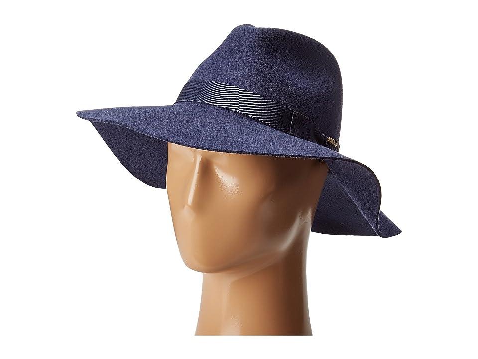 1940s Hats History San Diego Hat Company WFH8049 Wide Flat Brim Fedora Indigo Fedora Hats $62.00 AT vintagedancer.com
