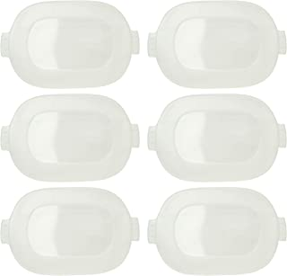 Corningware CW 1121691 Clear Baking/Casserole Replacement Lid – 6 Pack