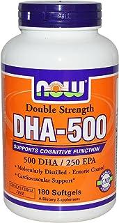NOW Foods - DHA-500, Double Strength - 500 DHA - 250 EPA - 180 perle